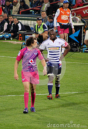 Rugby Kolisi and Kirchner South Africa 2012 Editorial Stock Photo