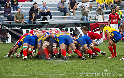 Rugby match Editorial Stock Photo