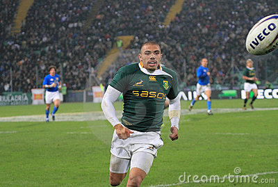 Rugby match Italy vs South Africa - Bryan Habana Editorial Image