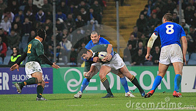 Rugby match Italy vs South Africa - Friuli Stadium Editorial Image