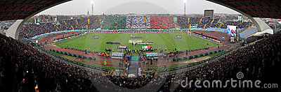 Rugby match Italy vs South Africa - Friuli Stadium Editorial Photo