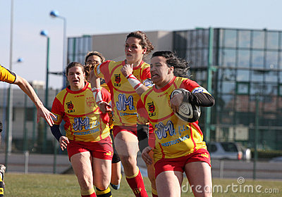 Rugby match USAT (France) v GETXO (Spai Editorial Image