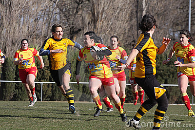 Rugby match USAT (France) v GETXO (Spai Editorial Stock Photo