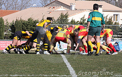 Rugby Match USAT (France) V GETXO (Spai Stock Photo - Image: 8295940