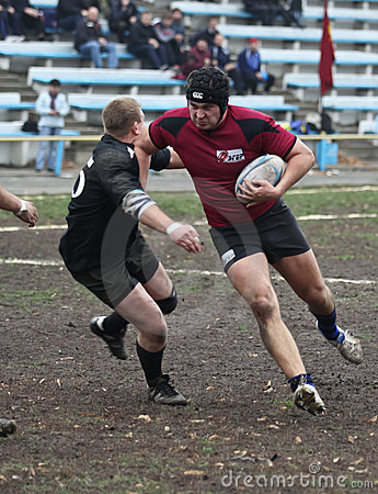 Rugby players in action Editorial Photo