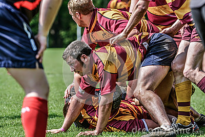 Rugby players Editorial Stock Image