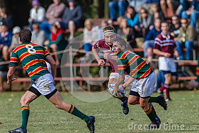 Rugby Schools Player Ball Editorial Image