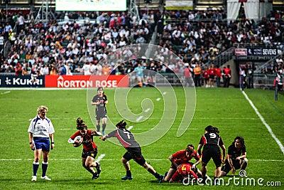 Rugby Sevens 2012 de Hong Kong Fotografia Editorial