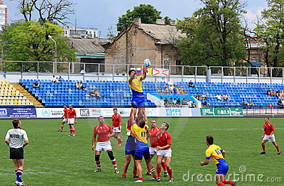 Rugby sevens championship Editorial Stock Image