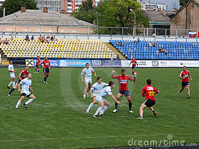 Rugby sevens championship Editorial Stock Photo