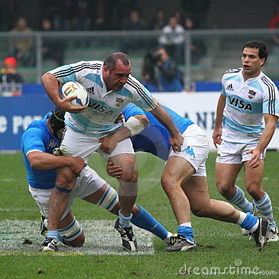 Rugby test match 2010: Italy vs Argentina (16-22) Editorial Stock Image