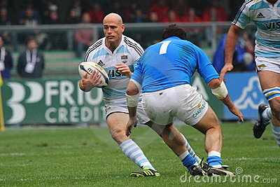 Rugby test match 2010: Italy vs Argentina (16-22) Editorial Stock Photo