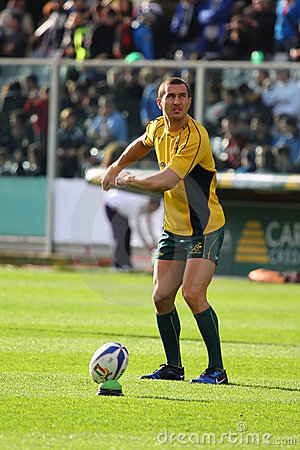 Rugby test match 2010: Italy vs Australia Editorial Image
