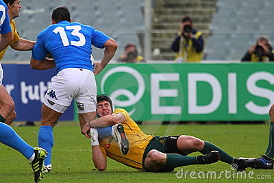 Rugby test match 2010: Italy vs Australia Editorial Photo