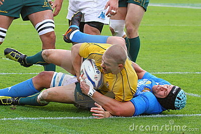 Rugby test match 2010: Italy vs Australia Editorial Stock Photo