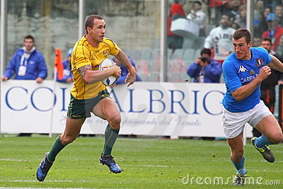 Rugby test match 2010: Italy vs Australia Editorial Stock Image