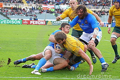 Rugby test match 2010: Italy vs Australia Editorial Photography