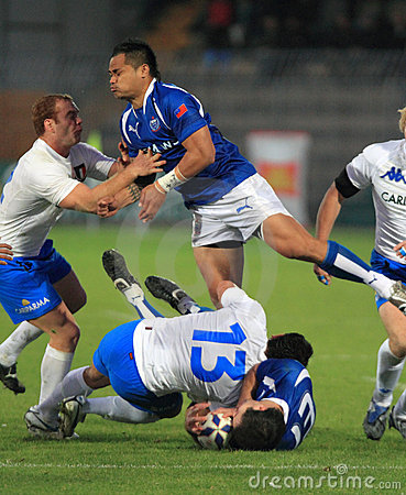 Free Rugby Test Match Italy Vs Samoa; Canale Royalty Free Stock Photo - 12024015