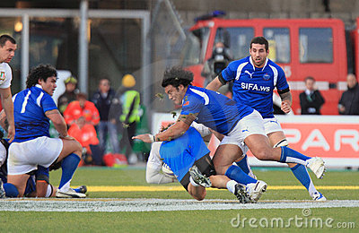 Rugby test match Italy vs Samoa; Justin Va a Editorial Photography