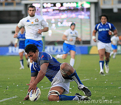 Rugby test match Italy vs Samoa; Lemi Editorial Stock Image