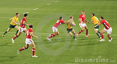 Rugby World Cup 2011 Australia versus Wales Editorial Image