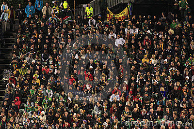 Rugby World Cup 2011 spectators Editorial Photography