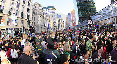 Rugby World Cup fans and supporters Editorial Image