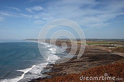 A rugged beach in Cornwall