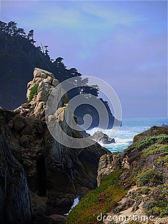 Free Rugged Coast Near Carmel California Stock Image - 13052771