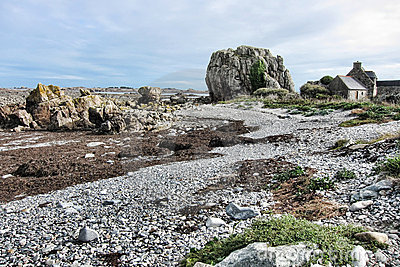 Rugged Coastal Beach Landscape in Brittany France