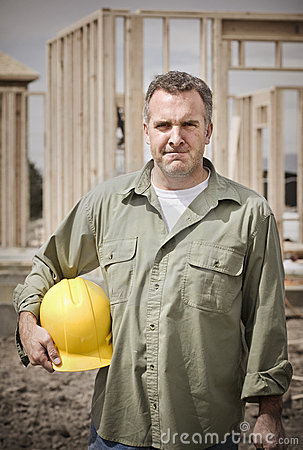 Rugged Male Construction Worker
