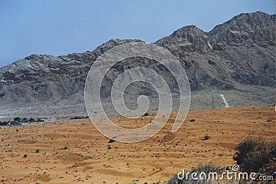 Rugged mountains in Dubai, UAE