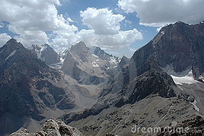 Rugged Mountains and Valley