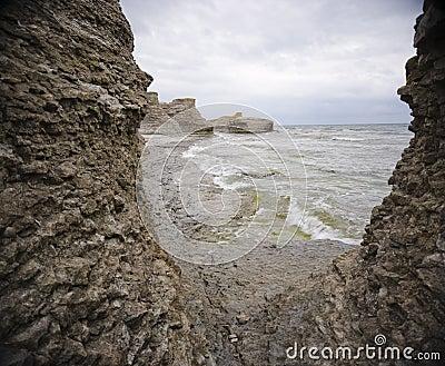 Rugged ocean coastline