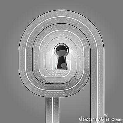 Ruhige trafffic Schlüssellösung