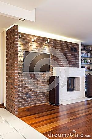 Pin stenen bakstenen muur behang swiet on pinterest - Bakstenen muur woonkamer ...