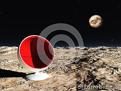 Ruimte stoel stock afbeelding afbeelding 13705501 - Stoel rode huis van de wereld ...