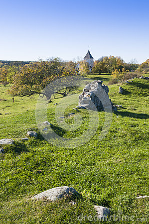 Free Ruin Alsnohus Hovgarden Royalty Free Stock Photos - 60723248