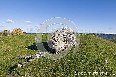 Ruin Alsnohus Hovgarden Stock Photo
