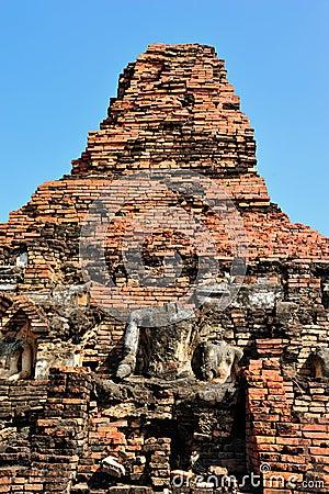Ruin buddha statue in Sukhothai