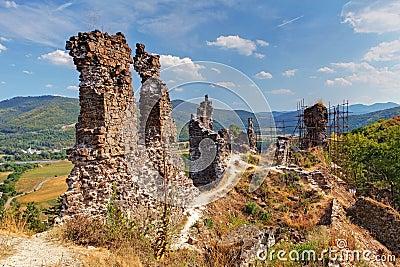 Ruin of castle Reviste