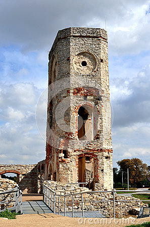 Ruin of castle tower, Poland
