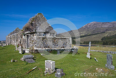 Ruin of a church and graveyard