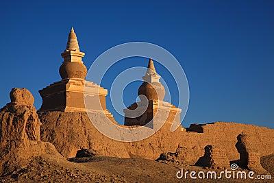 The ruin in desert