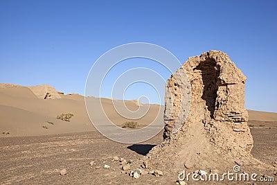 Ruin in desert