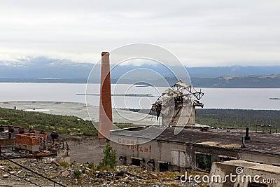 Ruin of factory