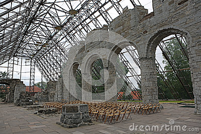 Ruin in Hamar - Domkirkeodden Editorial Image