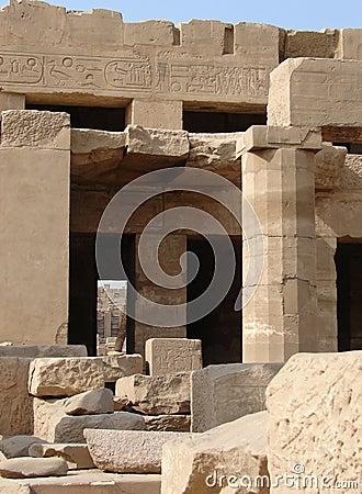 Ruin & hieroglyphs