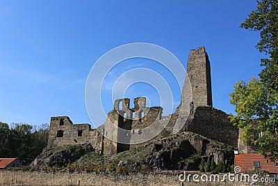 A ruin of Okor castle Stock Photo