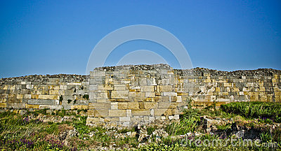 Ruin of old defense wall